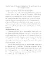 NHỮNG VẤN ĐỀ CHUNG VỀ CHẤT LƯỢNG TÍN DỤNG NGÂN HÀNG ĐỐI VỚI HỘ SẢN XUẤT