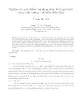 Nghiên cứu phát triển ứng dụng nhận biết ngữ cảnh  trong môi trường tính toán nhân rộng Nguyễn Thị Nhƣ