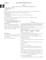 Giáo án 11NC chương 4 Đại cương HHC