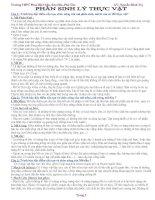 CHUYÊN ĐỀ: SINH LÝ THỰC VẬT (BD HSG)