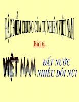 Bài 6: Việt Nam - Đất nước nhiều đồi núi