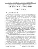 Ứng Dụng CNTT trong giảng dạy môn Ngữ Văn 8