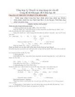 Tổng hợp Lý Thuyết và ứng dụng các vấn đề trong đề thi Olympic 30-4 Hóa học 10
