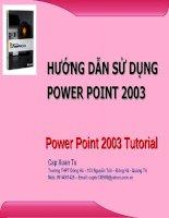 Hướng dẫn sử dụng power point 2003