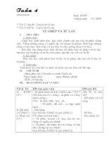 Luyện từ và câu L4 -Tuàn 4- 5 chuẩn