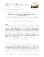 Exergoeconomic performance optimization of an endoreversible intercooled regenerated Brayton cogeneration plant Part 1: Thermodynamic model and parameter analyses