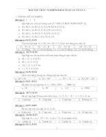 Bộ đề kiểm tra trắc nghiệm lớp 6