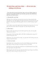 10 cách làm mới bản thân
