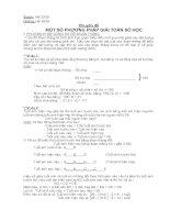 Các phương pháp giải toán số học