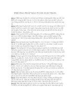 các bài tập về phương pháp bảo toàn ELECTRON