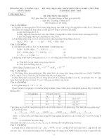 Đề Thi Chọn HSG Hóa 12 ( 10-11)