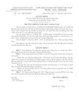 Số 185/QDPGDĐT NGÀY 22/9/2010 Quyết định về việc thành lập MLCM THCS năm học 2010 - 2011