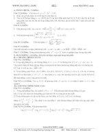 30 đề thi thử đại học 2012 theo cấu trúc môn toán