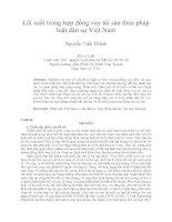 Lãi suất trong hợp đồng vay tài sản theo pháp luật dân sự Việt Nam