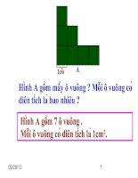 Diện tích hình vuông