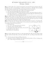 Đề thi học sinh giỏi môn Vật lí  Lớp 9