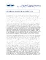 Đề 5: Giá trị hiện thực và nhân đạo của tác phẩm Chí Phèo.