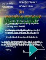 Bài 8: MẠCH KHUẾCH ĐẠI - MẠCH TẠO XUNG