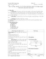 Giáo án Vật lí 9 Bai 1 Sự phụ thuộc của cường độ dòng điện vào hiệu điện thế