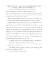 MỘT SỐ KIẾN NGHỊ NHẰM NÂNG CAO TRÌNH ĐỘ TỔ CHỨC LAO ĐỘNG KHOA HỌC TRONG CÔNG TY