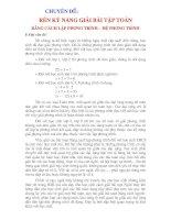 Giải toán bằng cách lập hệ phương trình