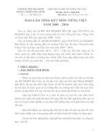 Báo cáo tổng kết môn T.Việt , Toán=cự hot