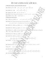 Ôn tập lượng giác 10 và 11