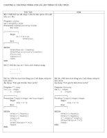 Bài tập tin học 11 chương 5 và 6