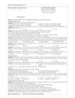 ĐỀ THI THỬ ĐẠI HỌC CAO ĐẲNG MÔN VẬT LÝ ĐỀ SỐ 06