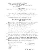 Quyết định thành lập BTC lớp tập huấn công tác Đội NH 2010 - 2011