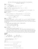 đề và đáp án lớp 10 chuyên Trần Phú Hải Phòng