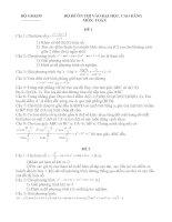 Bộ đề ôn thi vào ĐHCD đề số 1,2,3,4,5.doc