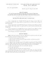 Phân bố biên chế năm học 2009-2010 của Bộ GD - ĐT