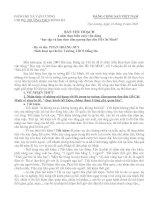 Bản thu hoạch 4 năm thực hiện cuộc vận động học tập và làm theo tấm gương đạo đức Hồ chí Minh