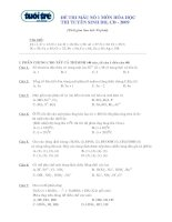 ĐỀ THI MẪU SỐ 1 MÔN HÓA HỌC THI TUYỂN SINH ĐH, CĐ - 2009
