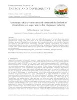 Assessment of pretreatments and enzymatic hydrolysis of wheat straw as a sugar source for bioprocess industry
