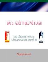 Giáo trình Flash video - Tin học cơ sở Version 2