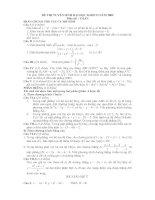 Đề và gợi ý môn toán  ĐH khối D