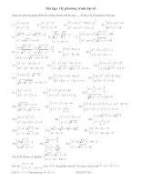 mốt số bài tập về hệ phương trình