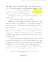 CÁC BIỆN PHÁP SỬ DỤNG CÂU HỎI BÀI TẬP ĐỂ RÈN LUYỆN NĂNG LỰC TỰ HỌC SGK SINH HỌC 10 THPT CHO HS QUA DẠY HỌC PHẦN SINH HỌC VI SINH VẬT