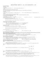 Chuyên đề : hàm số