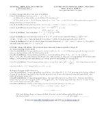 KÌ THI TUYỂN SINH ĐẠI HỌC NĂM 2013 Đề thi thử lần 1 Môn TOÁN Khối D  TRƯỜNG THPT SỐ 1 TUY PHƯỚC