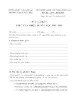 Canm kết đầu năm học 10-11BẢN CAM KẾT thực hiện nhiệm vụ năm học 10-11