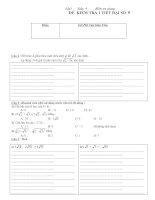 Bộ đề số 3 kiểm tra học kỳ I Toán 9 (có ma trận+đáp án+đề cương)