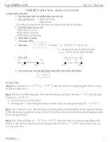 Các chủ đề ôn tập chương I lớp 11