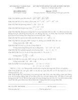 Đề,đáp án Tuyển sinh 10 chuyên toán Lâm đồng