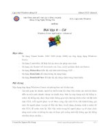 Bài tập 6 – C# Windows Form Application - Advanced