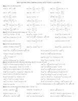bài tập phương trình lượng giác cực hay