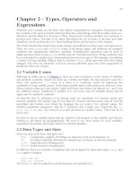 Types, operators and expressions