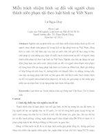 Miễn trách nhiệm hình sự  đối với người chưa  thành niên phạm tội theo luật hình sự Viêt Nam